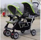 รถเข็นเด็ก รถเข็นเด็กแฝด 2 ชั้น ของใหม่มือ 1 (ส่งฟรี) มี 2 สีให้เลือก ใช้ดีทั้งแฝดและพี่น้อง คุณภาพดีมาก