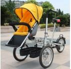 จักรยานรถเข็นเด็ก สีเหลือง (Baby stroller bike)