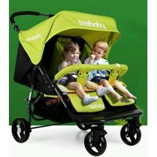 รถเข็นเด็ก น้องแฝดที่นั่งคู่ see baby สีเขียว