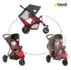 ของใหม่มือ 1 รถเข็นเด็กแฝด หรือรถเข็นพี่น้อง Hauck (ส่งฟรี) แบรนด์เยอรมัน ทรงสปอร์ต 3 ล้อ คุณภาพพรีเมี่ยม