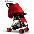 รถเข็นเด็กWB kidน้ำหนักเบาะ โครงรถสีทองเมทาลิค หลังคาสีแดง
